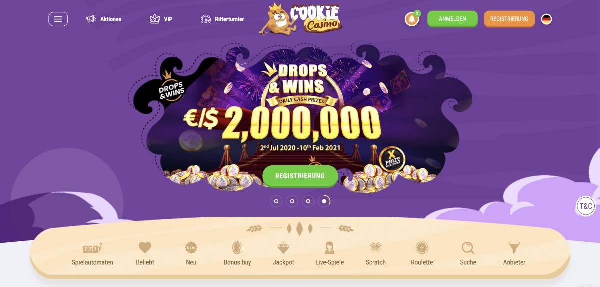 cookie casino bonus code