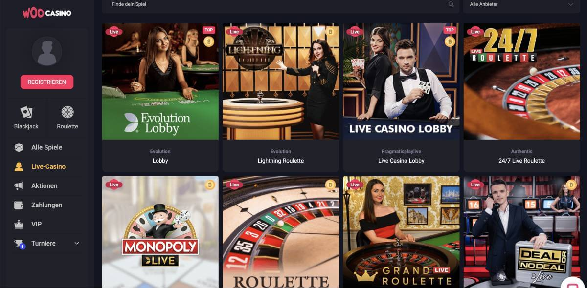 woo live casino