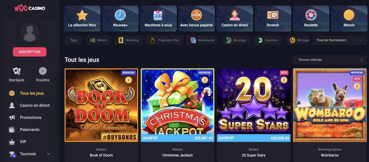woo casino jeux