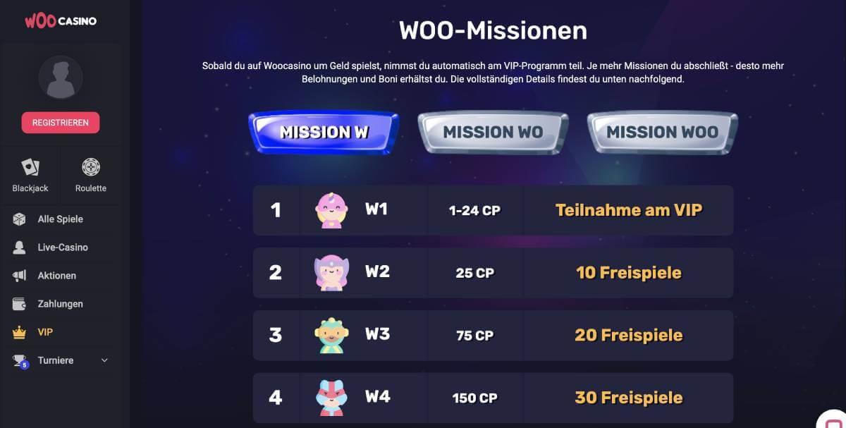 woo casino vip programm