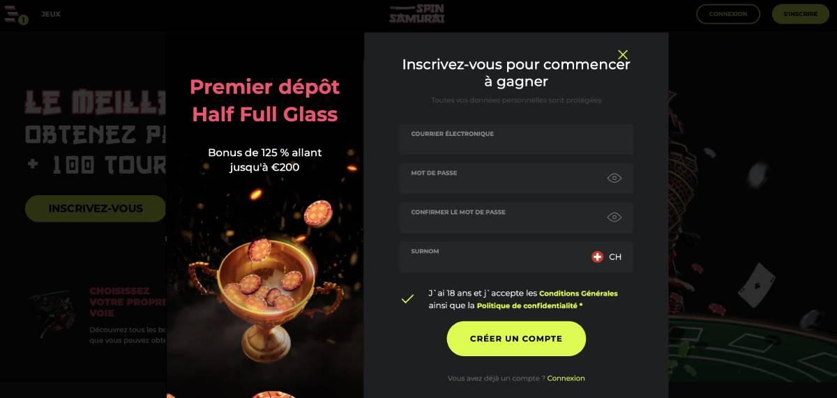 spin samurai casino en ligne