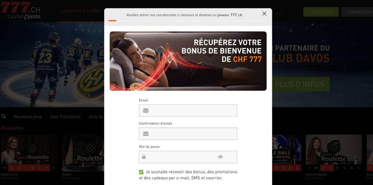 777casino.ch s'inscrire