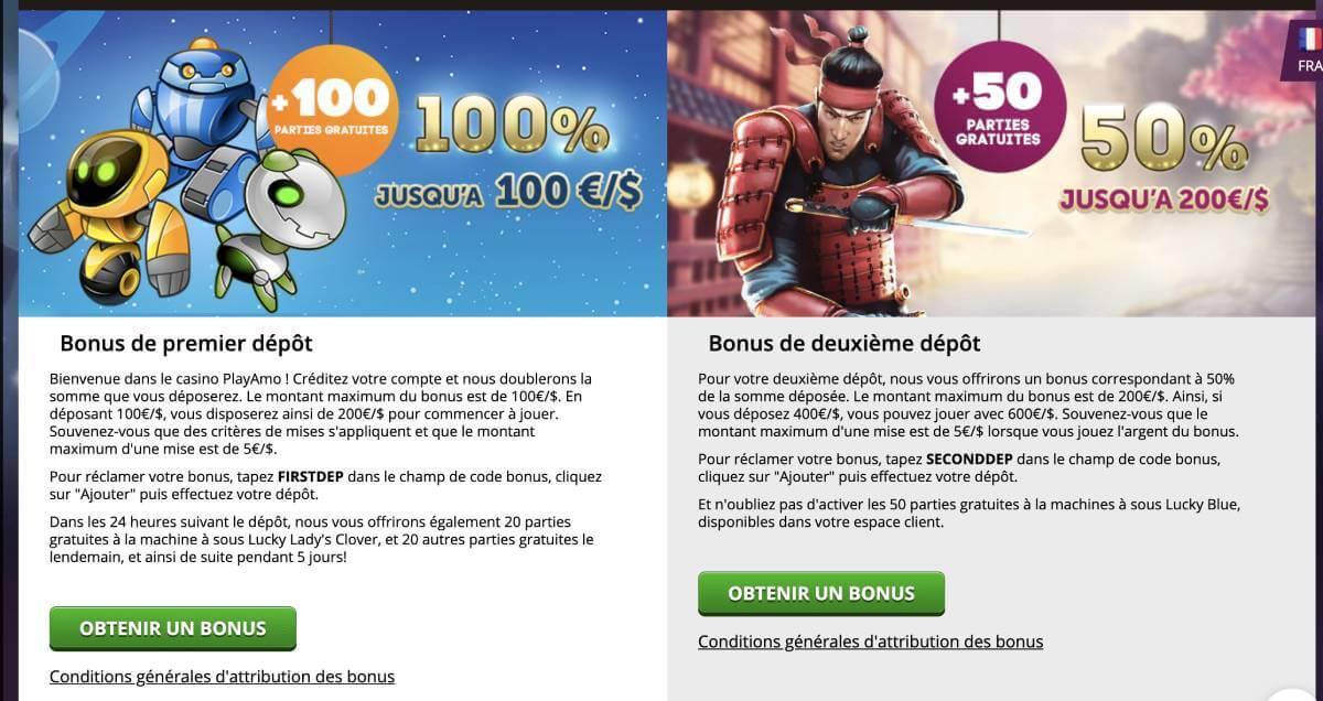 bonus de bienvenue casino en ligne